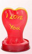 I love you hjerte - figur kondom