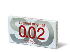 2 stk. SAGAMI Original 0.02 latexfri kondomer