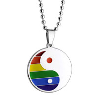Rainbow Necklace Ying/Yang