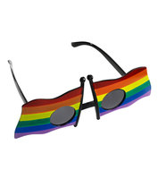 Glasses with 2 rainbow flag