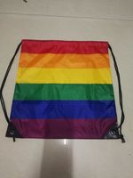 Rainbow drawstring bag