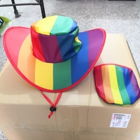 Rainbow foldable hat with bag